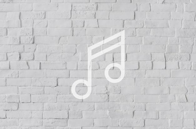 Melody music sound conceito de sinal de ícone artístico chave