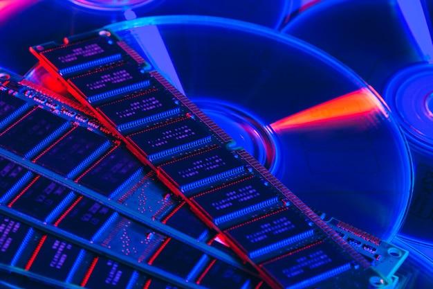 Memória de acesso aleatório do computador (ram) close-up