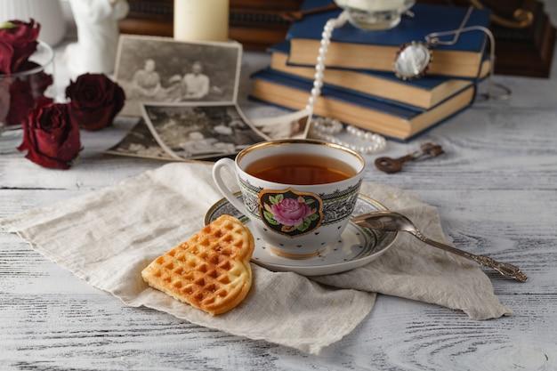 Memórias da família um chá da noite