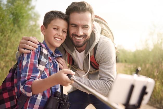 Memórias das férias com o papai