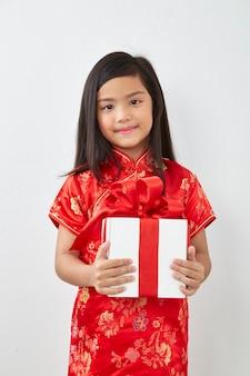 Menina chinesa de ano novo de 2019