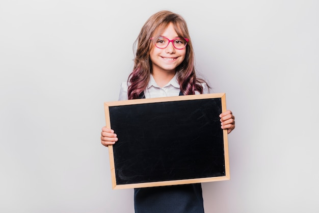 Menina, com, chalkboard
