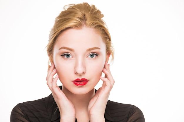 Menina com maquiagem