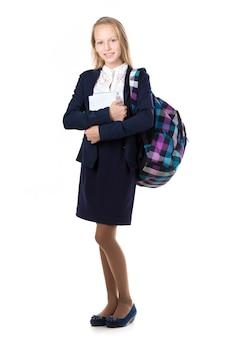 Menina com uniforme escolar