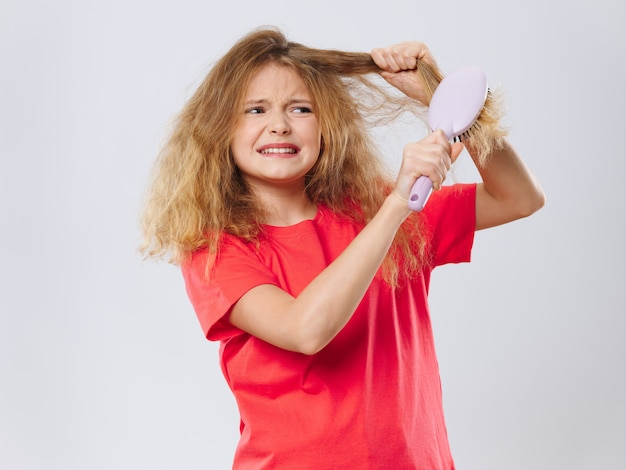 Menina criança, posingportrait