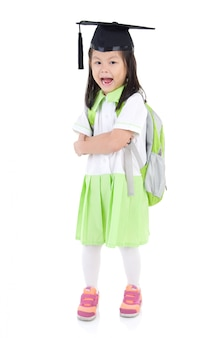 Menina da escola asiática