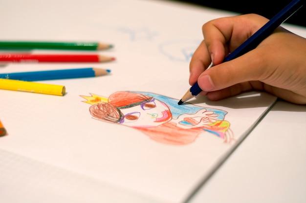Menina, desenho, princesa