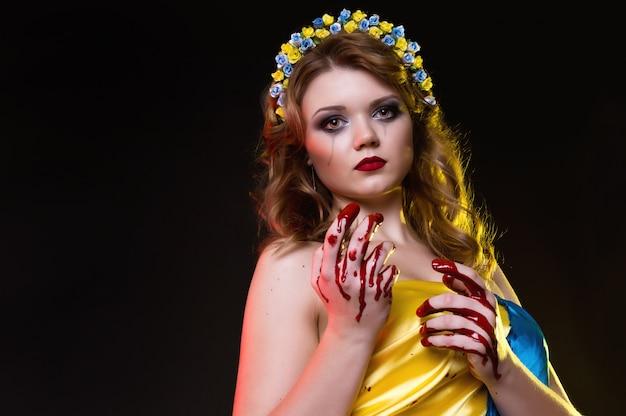 Menina encarna a ucrânia agora