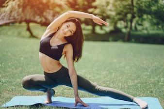 Menina ioga