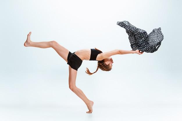 Menina jovem, dançar break