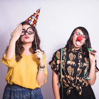 Meninas divertidas na festa