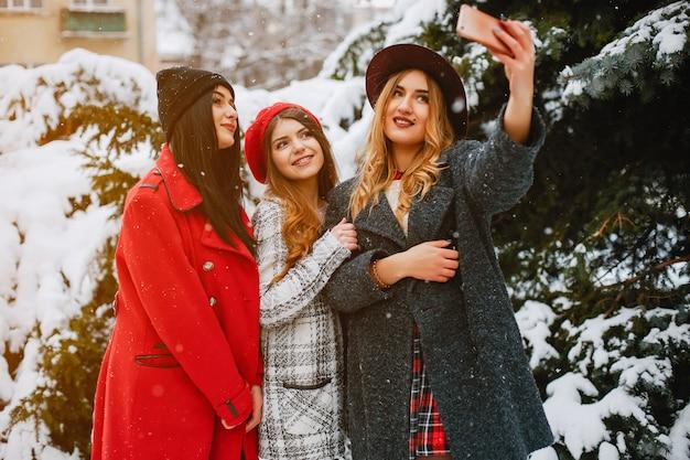 Meninas no inverno