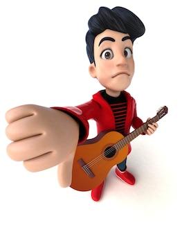 Menino adolescente de desenho animado em 3d