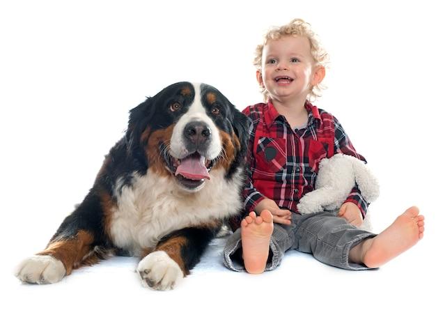 Menino e cachorro