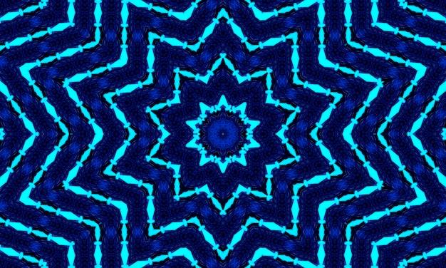 Menor gzhel deco redondo mandala design elementos decorativos índigo, linha azul e área branca para colorir. sombra ao redor da mandala e cor de fundo. árabe, islã, indiano, ilustração de ioga chinesa