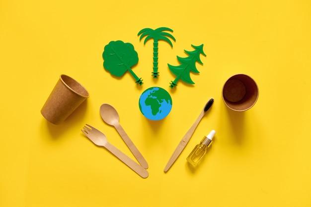 Menos desperdício ecológico e plano.