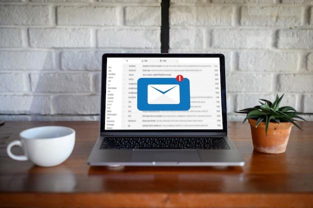 Mensagem de conexão de comunicação de email