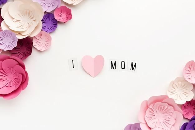 Mensagem de cópia-espaço para o dia das mães