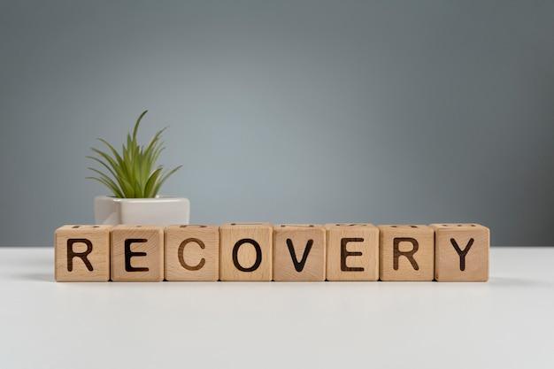 Mensagem de economia de recuperação