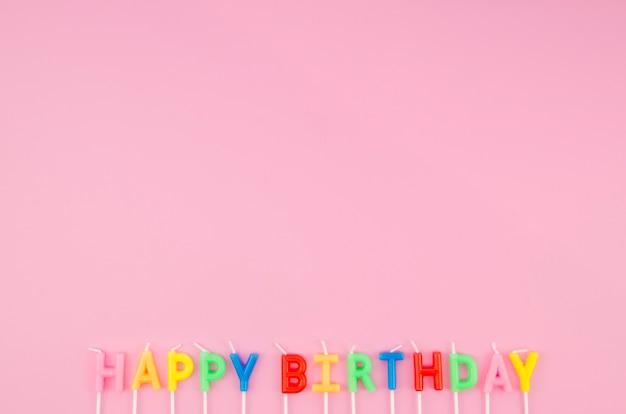 Mensagem de feliz aniversário com espaço de cópia