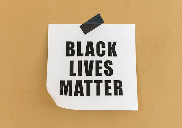 Mensagem de movimento da matéria de vidas negras na parede