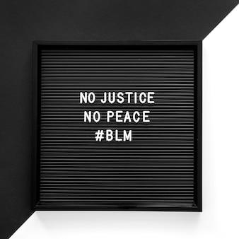 Mensagem de movimento da matéria de vidas negras no quadro