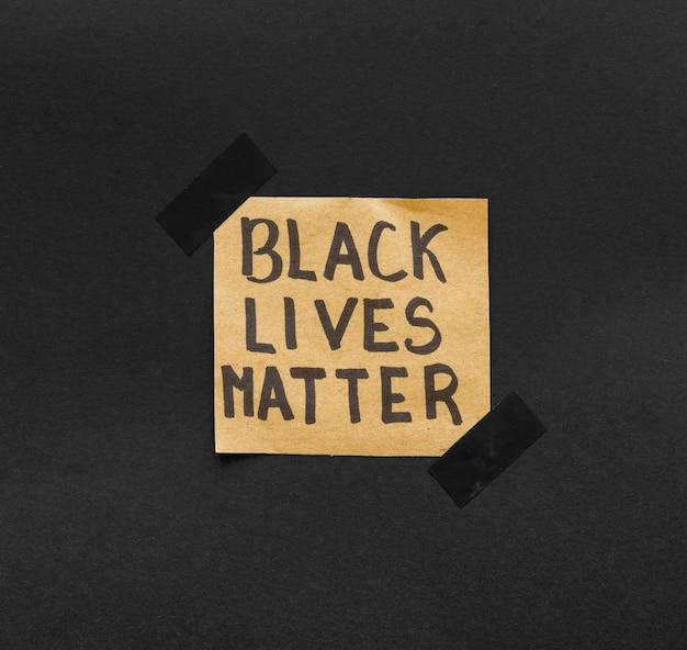 Mensagem de movimento da matéria de vidas negras
