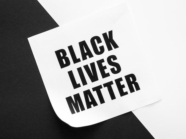 Mensagem de movimento de matéria de vida negra monocromática