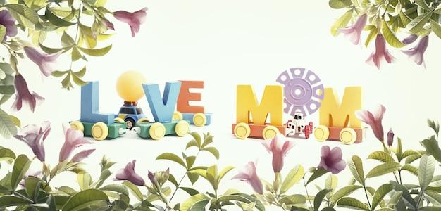 Mensagem do dia das mães de peças multicoloridas. fundo de conceito de dia de mãe feliz.