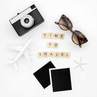 Mensagem para viajar e ferramentas