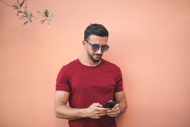 Mensagens de texto de homem bonito