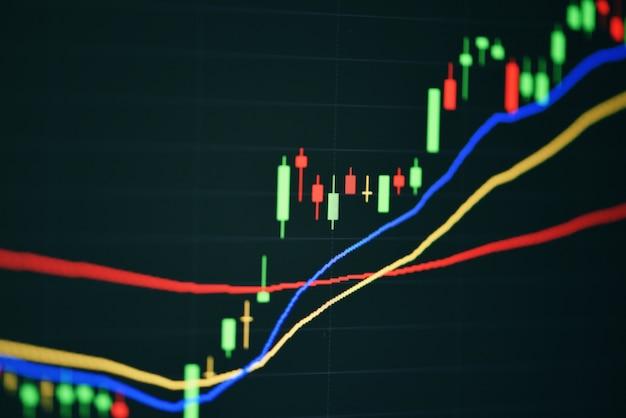 Mercado de ações digital gráfico gráfico negócios bolsa de valores negociação análise investimento financeiro