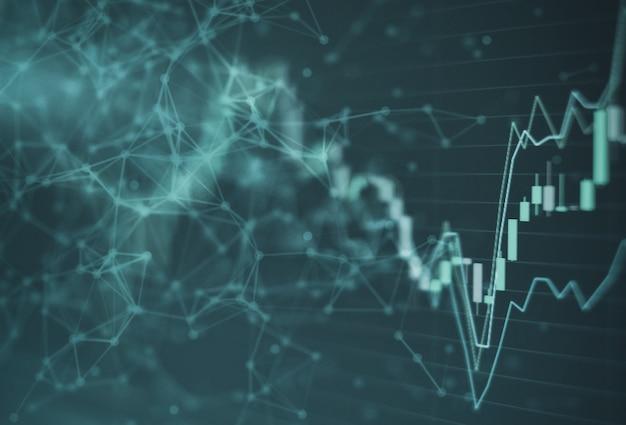 Mercado de ações gráfico gráfico investimento negociação bolsa de valores
