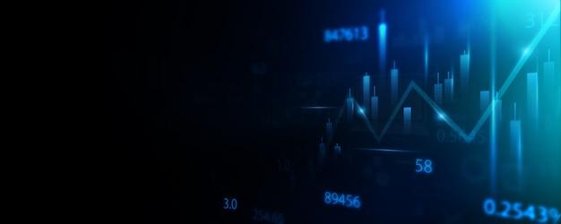 Mercado de ações negócios tecnologia comunicação conceito plano de fundo
