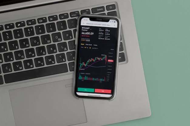 Mercado de ações online. conceito de negócios