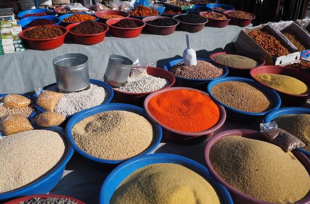 Mercado de agricultores locais na turquia