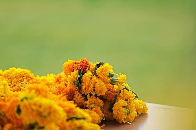 Mercado de flores de calêndula