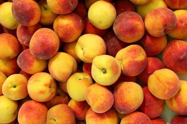 Mercado de frutas de pêssego