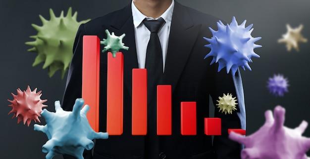Mercado em queda devido a ataque de vírus