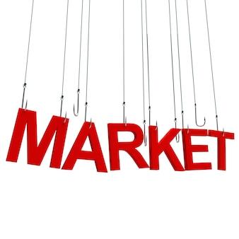 Mercado, texto suspenso