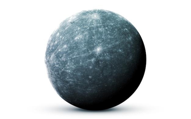 Mercúrio no espaço, ilustração 3d. .