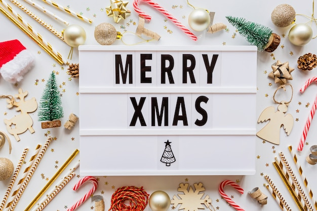 Merry xmas flatlay