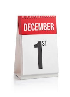Mês de dezembro calendário primeiro dia