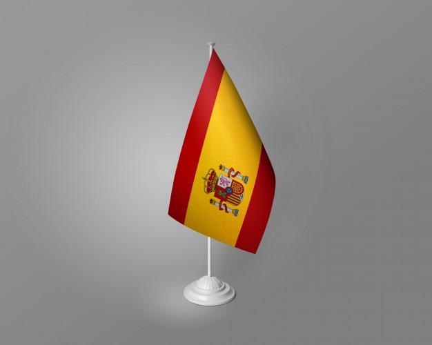 Mesa de bandeira de espanha