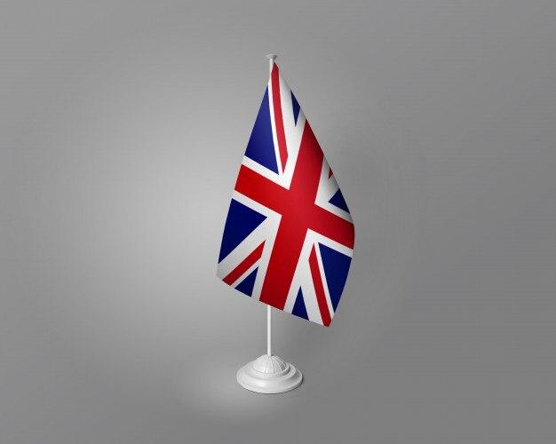 Mesa de bandeira do reino unido