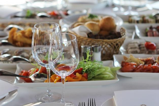 Mesa de banquete no restaurante