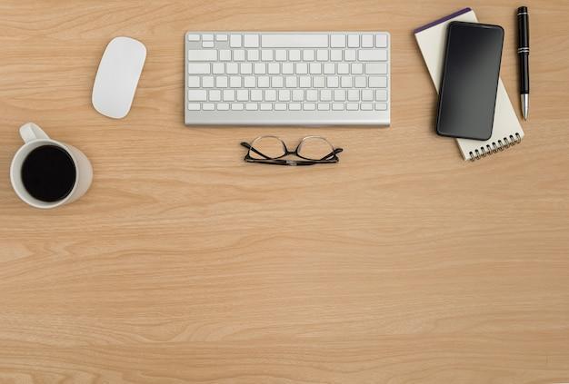 Mesa de escritório de madeira