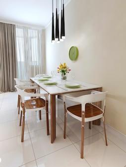Mesa de jantar de estilo contemporâneo