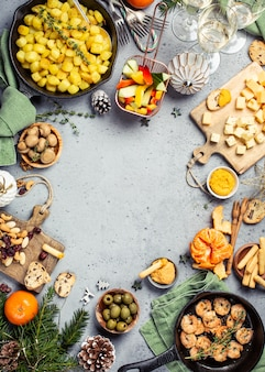Mesa de jantar de natal
