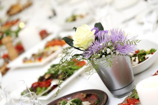 Mesa de jantar em uma celebração